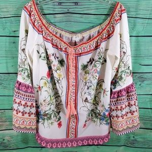 Umgee beautiful floral flare sleeve top